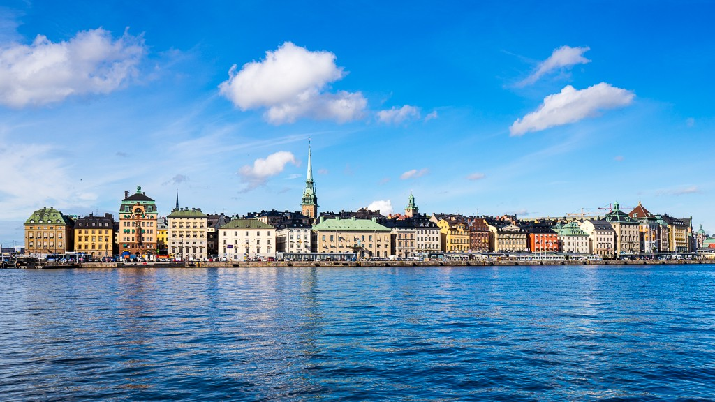 Gamla Stan, Stockholm, viewed from a ferry