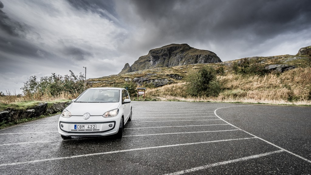 The little VW UP! at the end of the E10