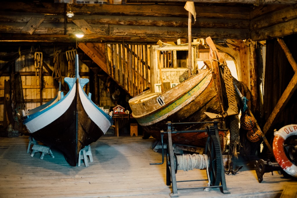 Boats at the fishing museum in Å