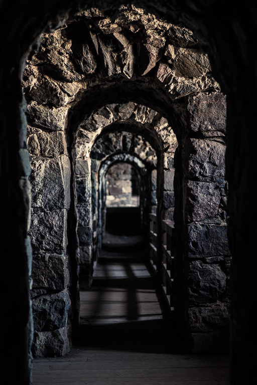 Tunnel through the fortress walls of Suomenlinna