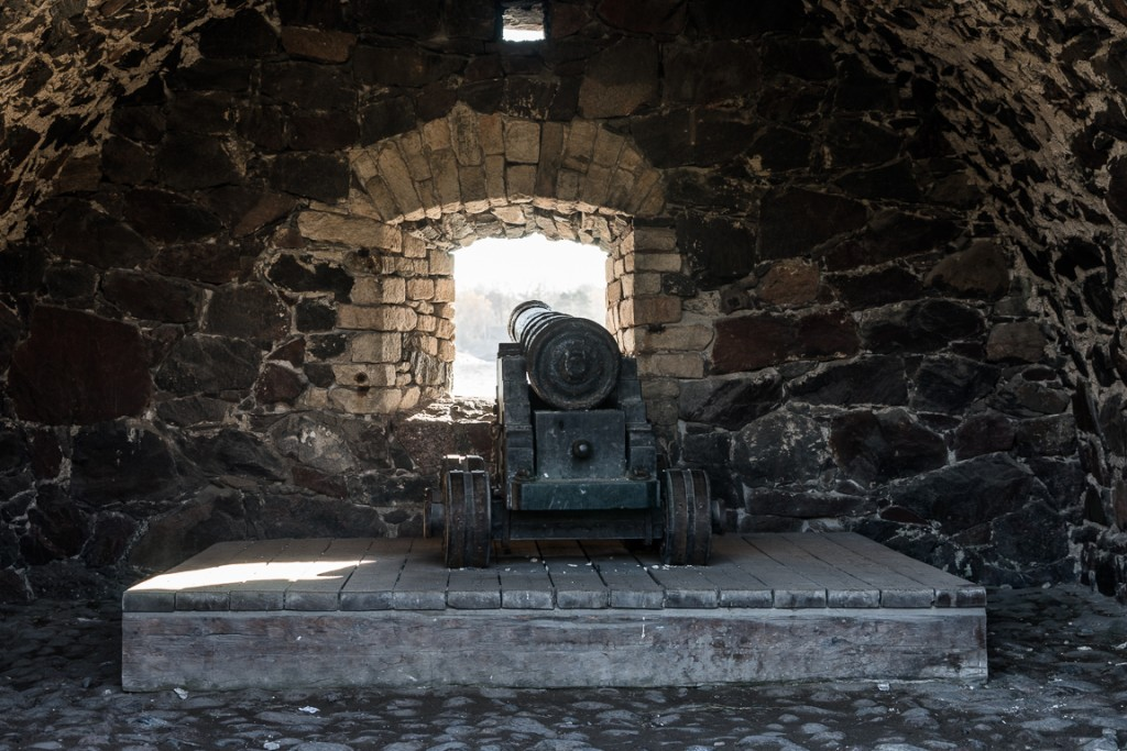 Smaller cannon within the fortress walls