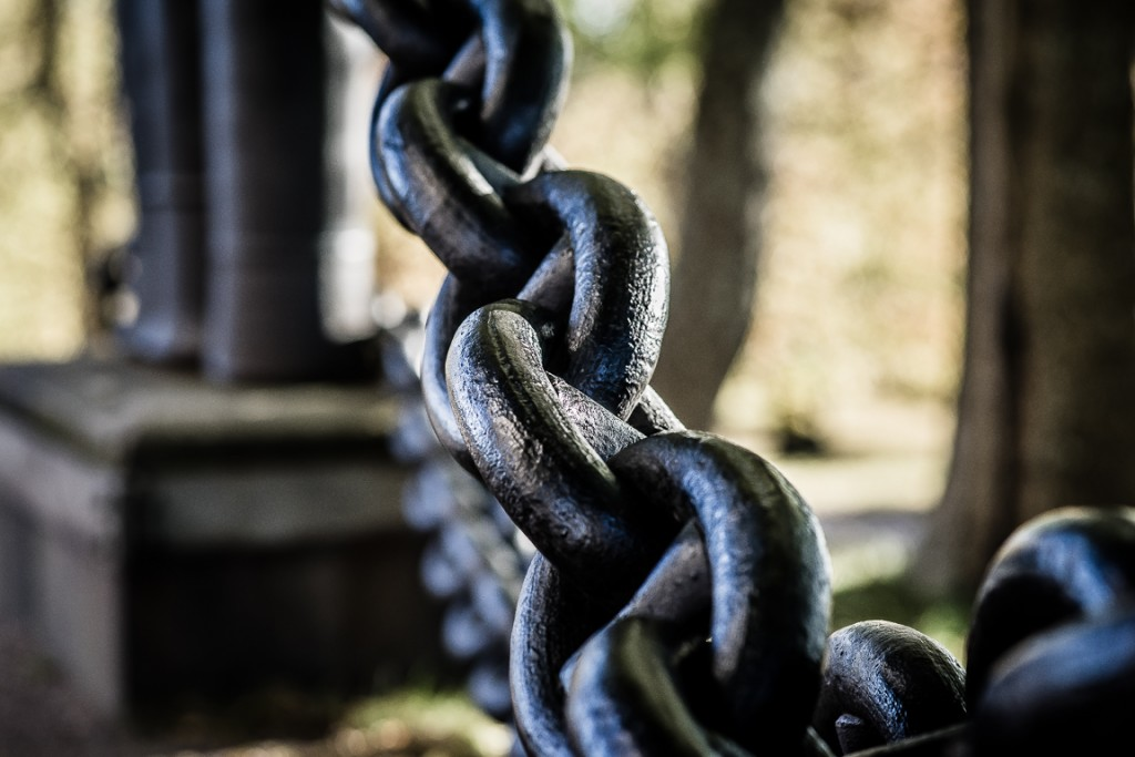 Chain surrounding Suomenlinna church