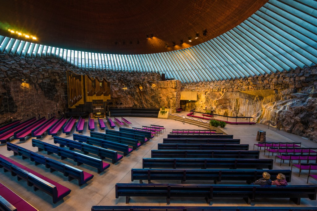 Inside Temppeliaukio Church (the Rock Church