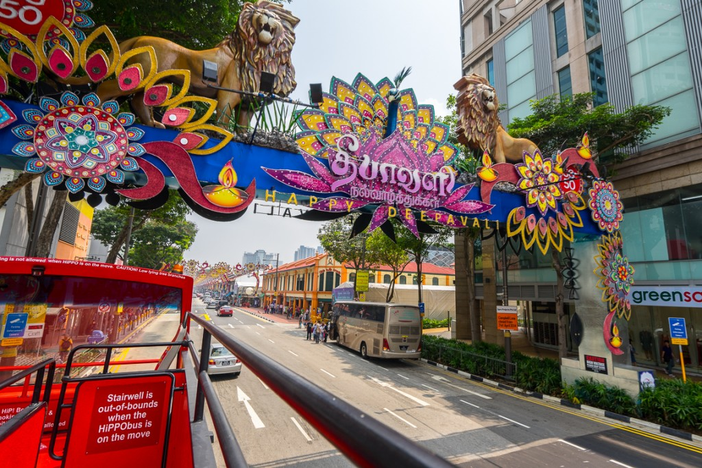 Entrance to the main street of Little India