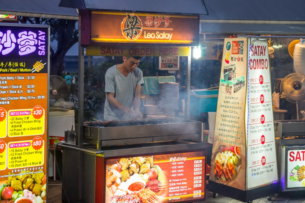 Cooking at Satay by the Bay