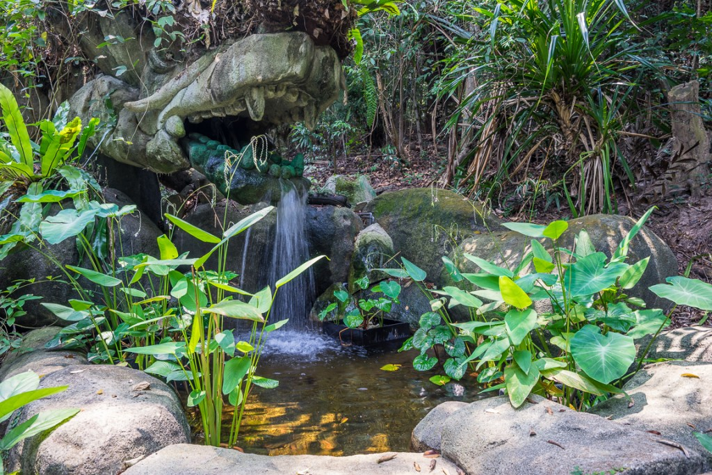 Water feature on the Imbiah Trail walk