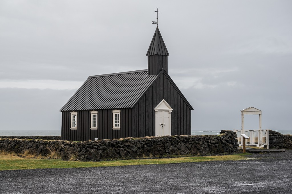 Small old church at Budir, on the Snaefells peninsula