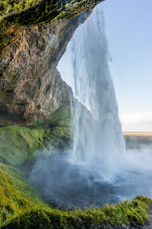 View of the other side of the waterfall