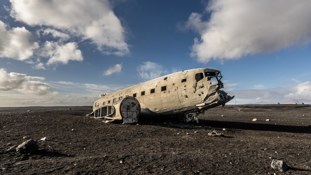 Wreckage of a US Navy DC-3 on Sólheimasandur black beach