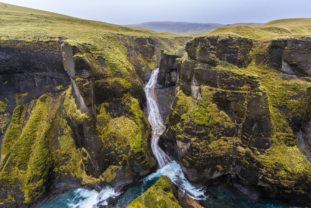 fjaðrárgljúfur is a canyon around 2km long off the ring road in southern Iceland