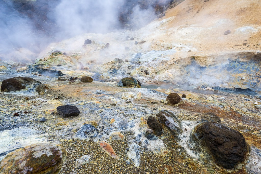 Geothermal activity at Seltun