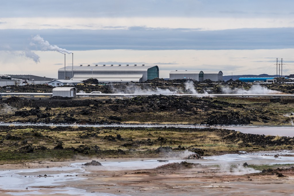 Geothermal powerplant on the Reykjanes peninsula