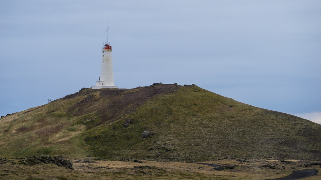 Lighthouse on the southwestern tip of Iceland