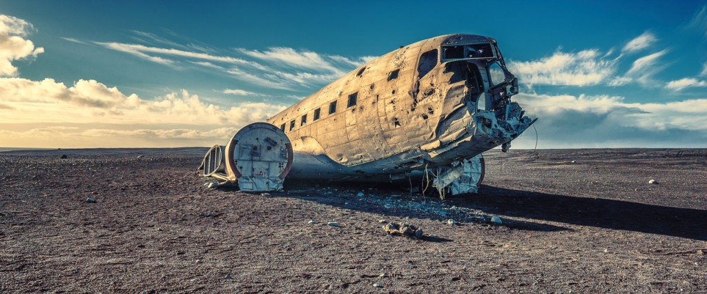 Another shot of the DC-3 wreck on Sólheimasandur beach, Iceland.