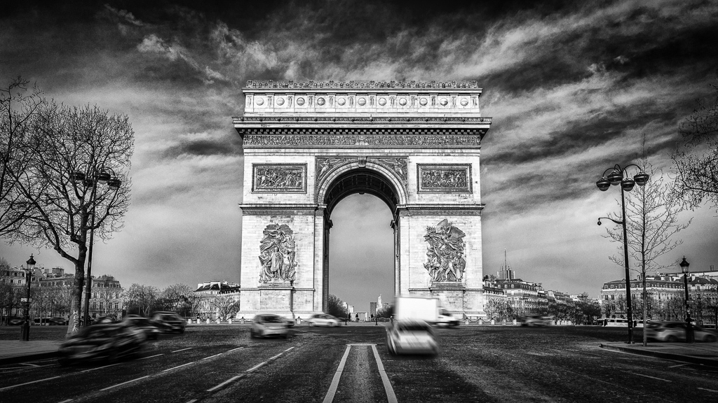 Arc de Triomph viewed from Champs Elysees