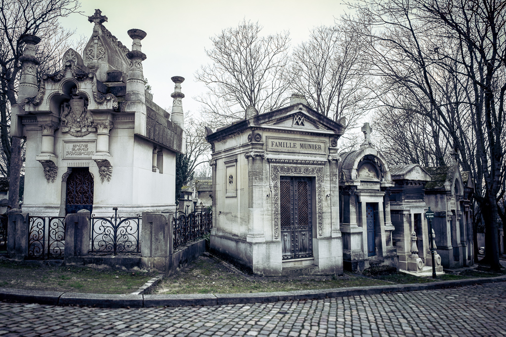 Tombs at Pere Lachaise cemetery, Paris